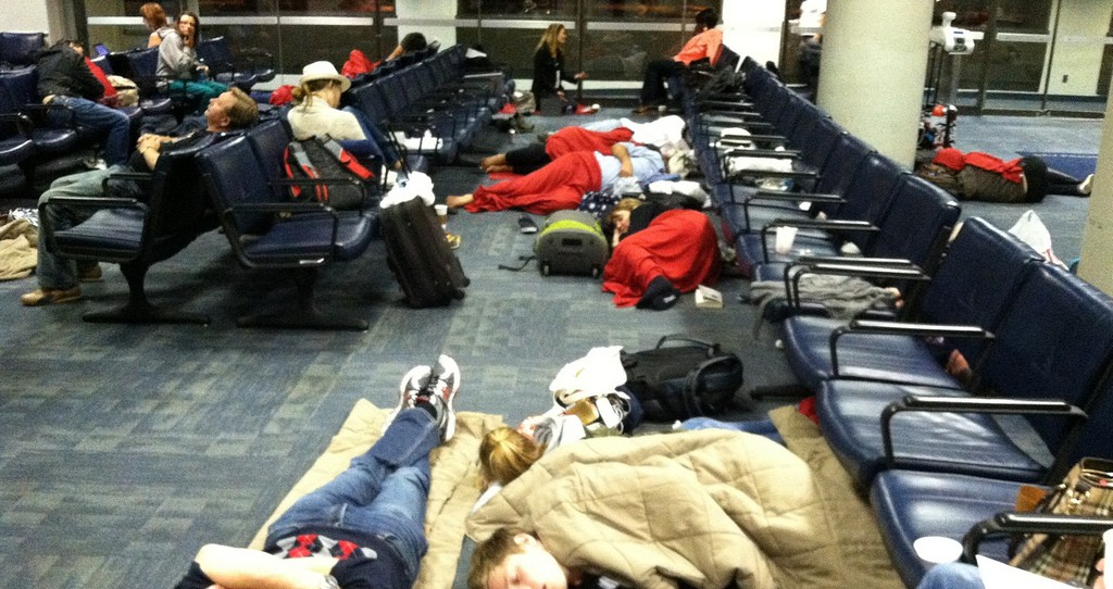 sleeping in airport chase trip delay