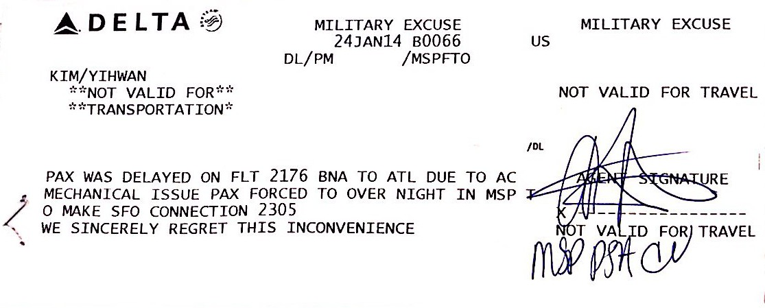 Airline Military Excuse