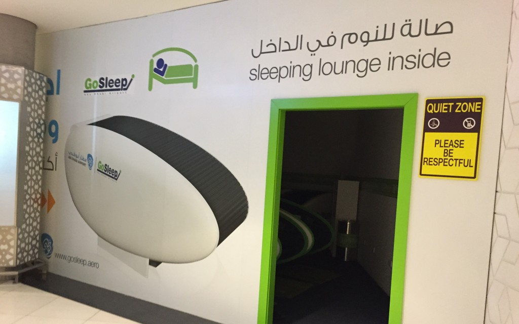 abu dhabi airport sleep pods