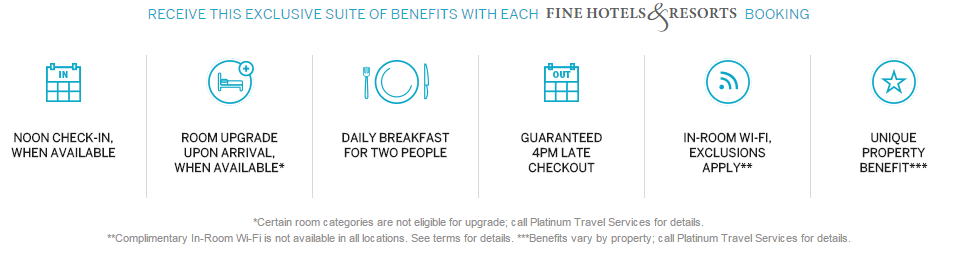 American Express Fine Hotels Resorts Amex Fhr Benefits