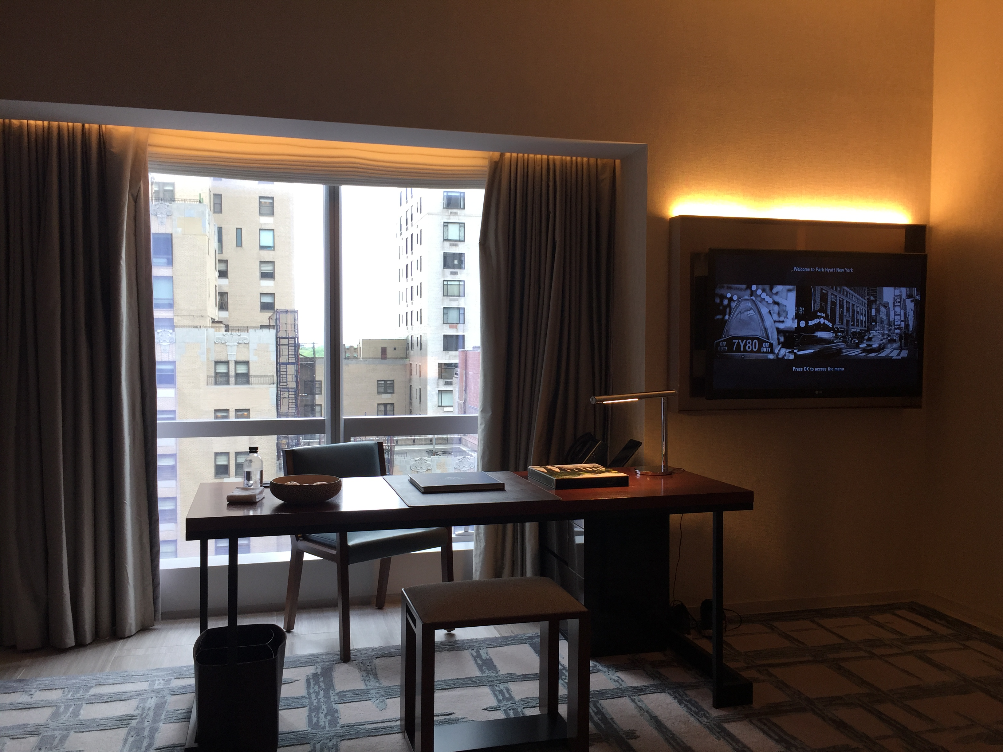 Park Hyatt New York Desk TV