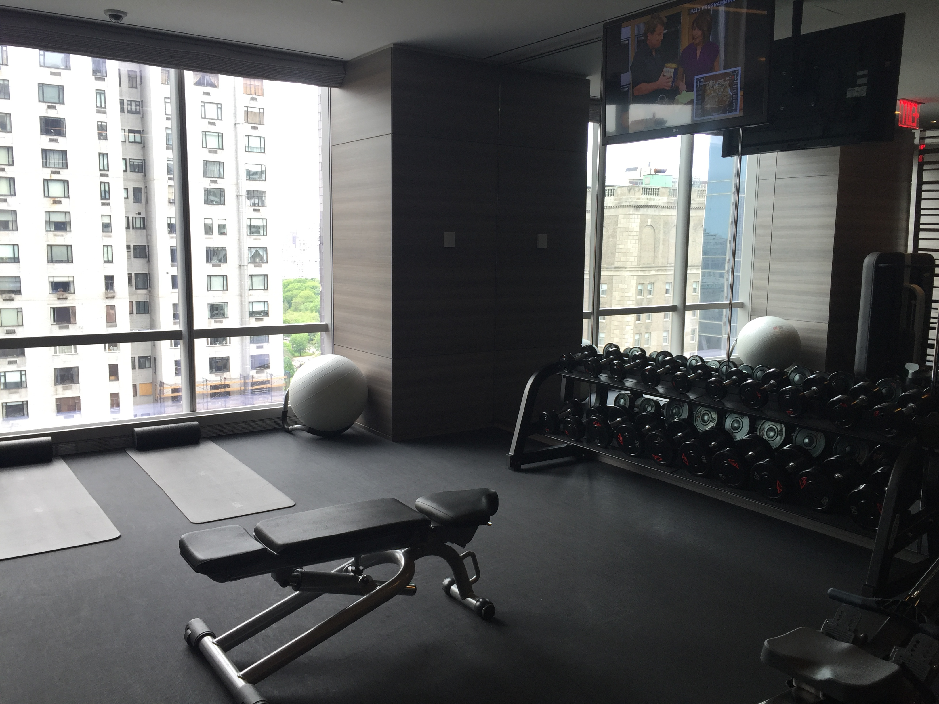 Park Hyatt New York Gym Dumbells