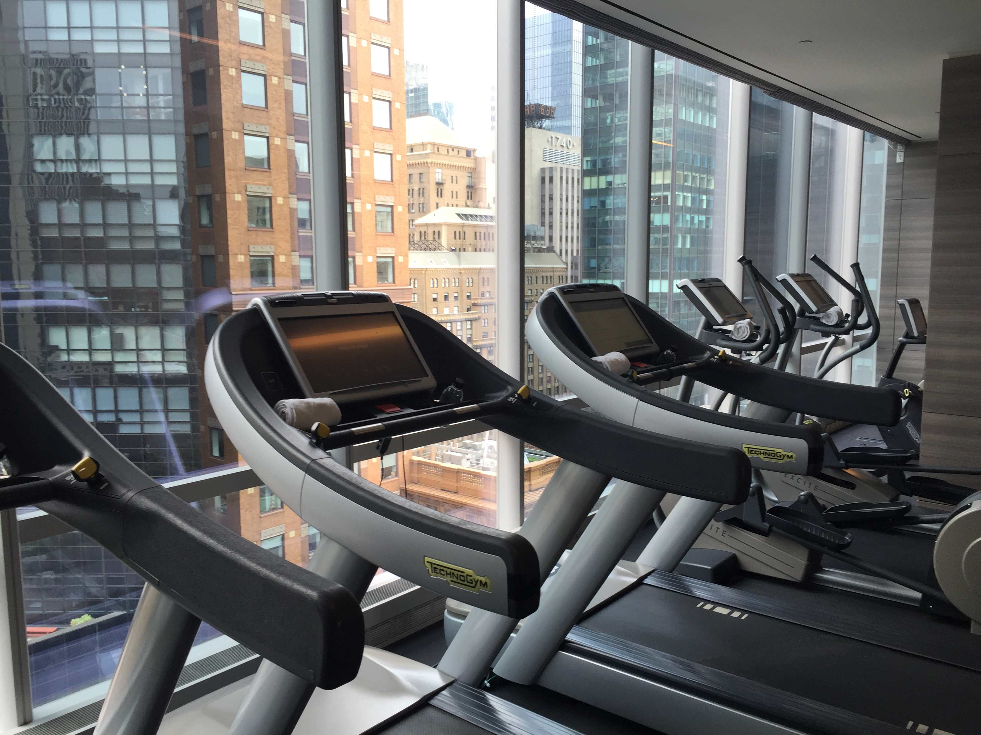 Park Hyatt New York Gym Treadmills