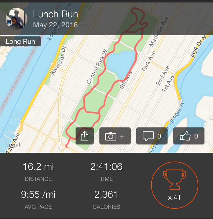 Strava New York Park Hyatt