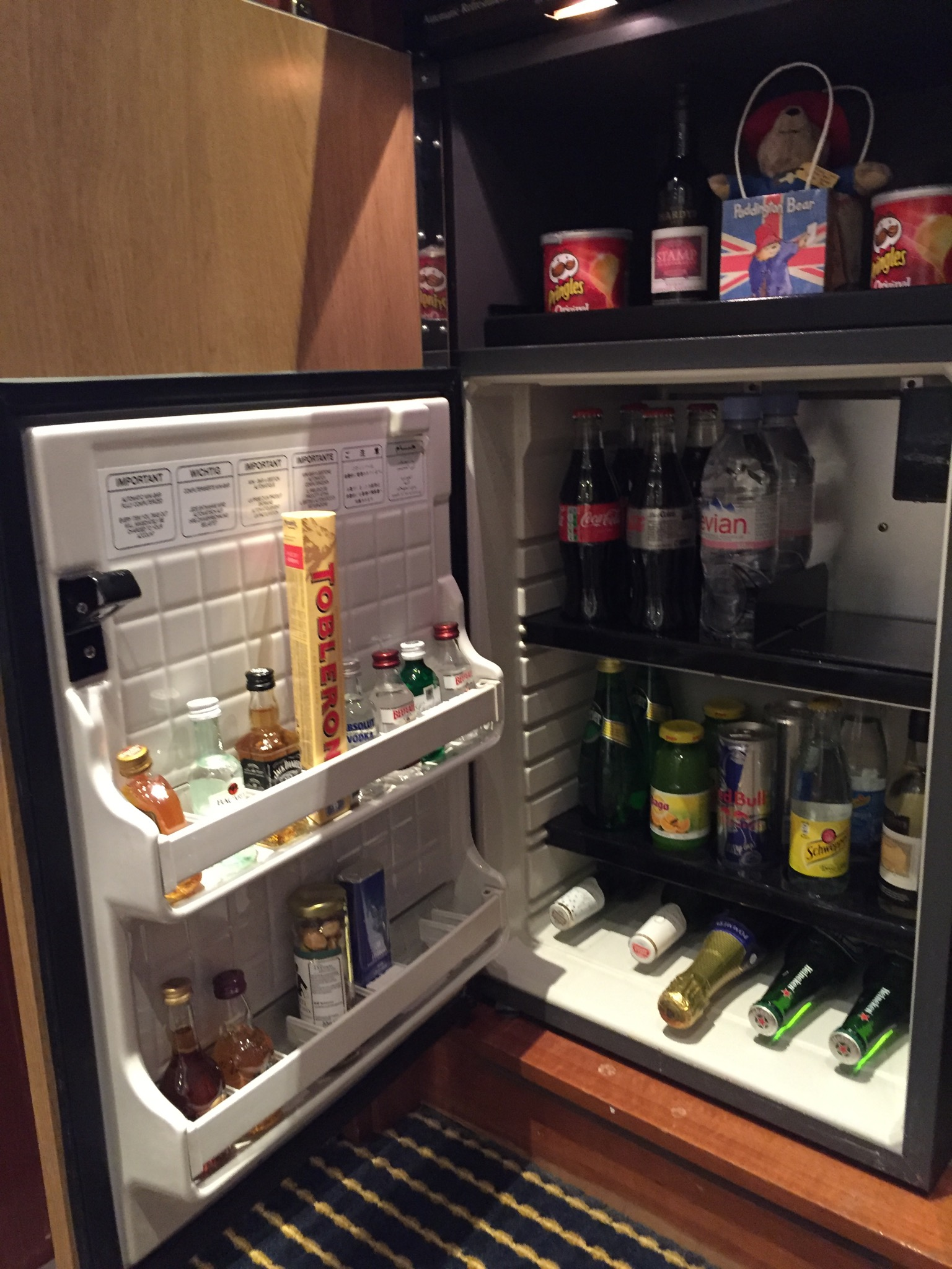 Hilton London Paddington Minibar