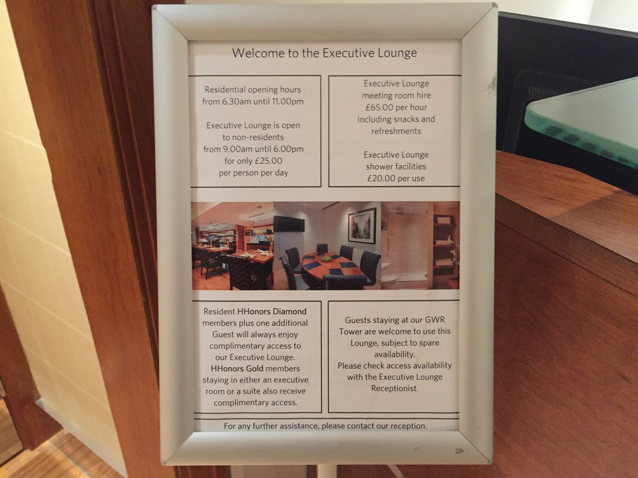 Hilton London Paddington Executive Lounge Hours