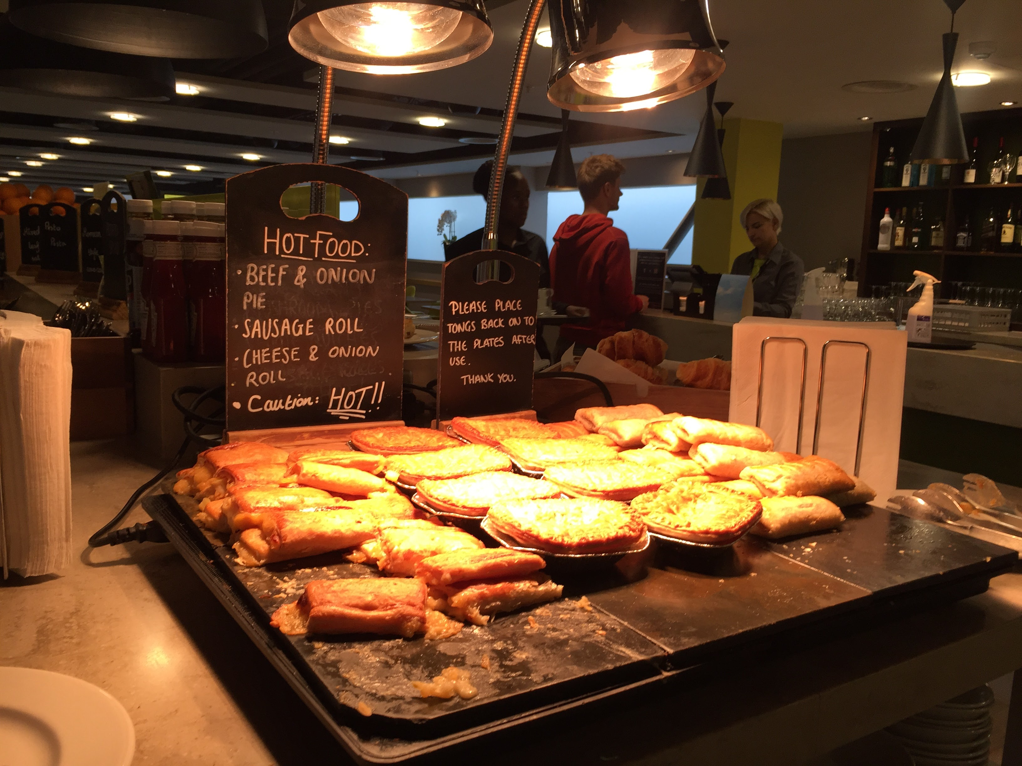 Escape Lounge Stansted Hot Food