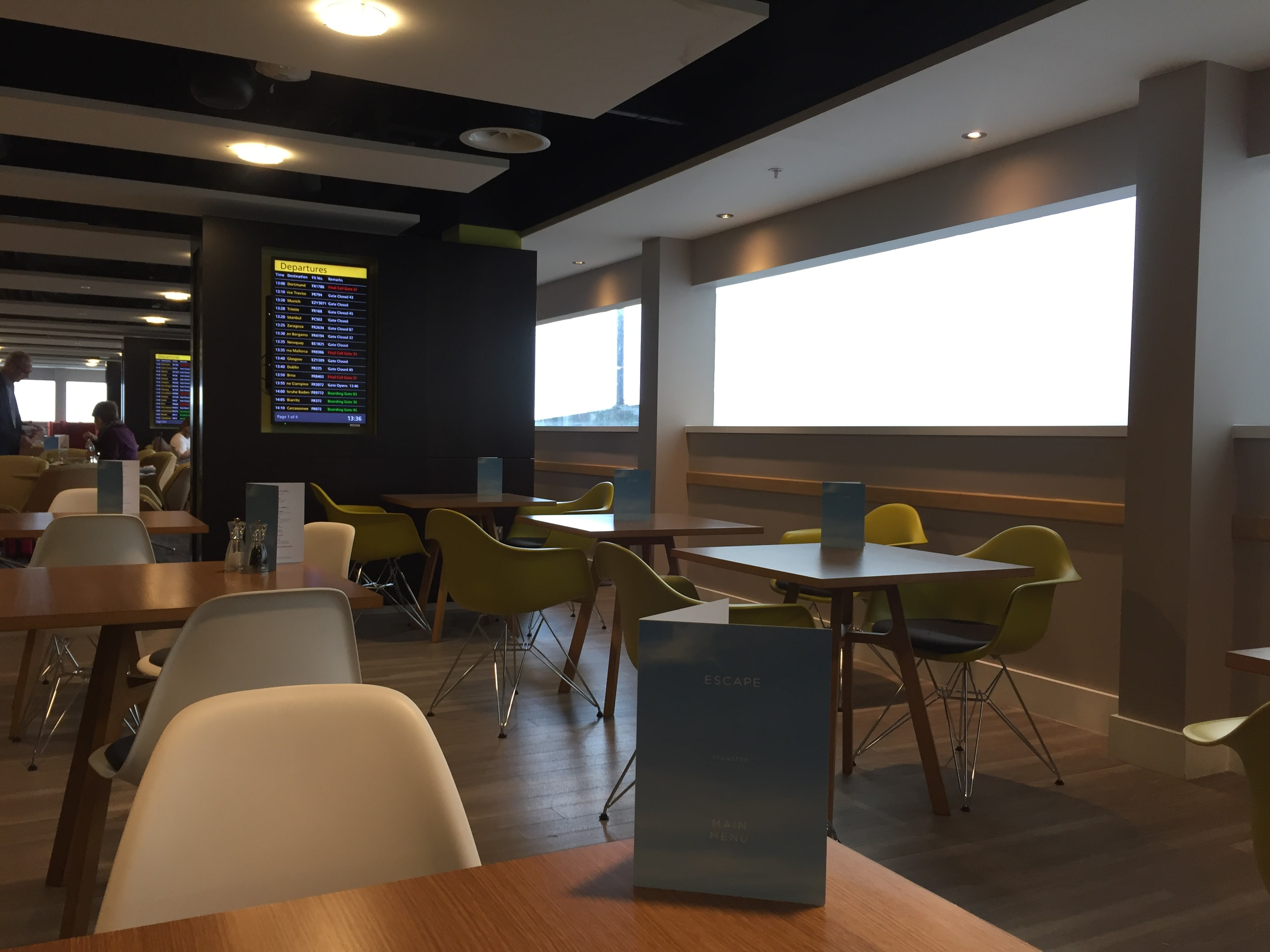Escape Lounge Stansted Seating