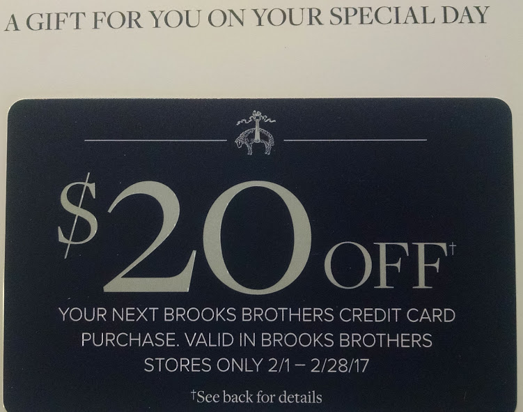 Brooks brothers business card holder best business 2017 the brooks brothers credit card promotion train keeps chugging colourmoves