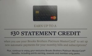 Marathon Credit Card Login >> The Brooks Brothers Credit Card Promotion Train Keeps