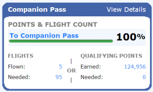 Mission Accomplished, Companion Pass is mine!