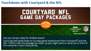 Marriott Rewards' Flash Perk deal for 21 August 14 - NFL Game Day Packages