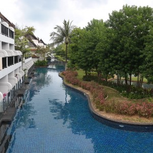 Part of the pool.