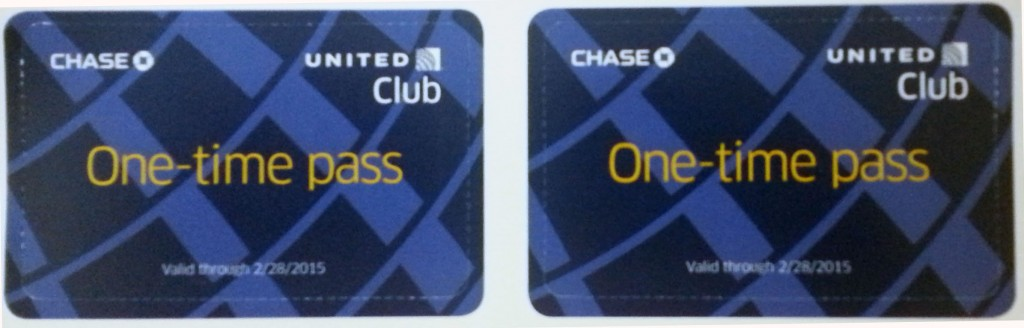 Club Pass Pair of United Club Passes
