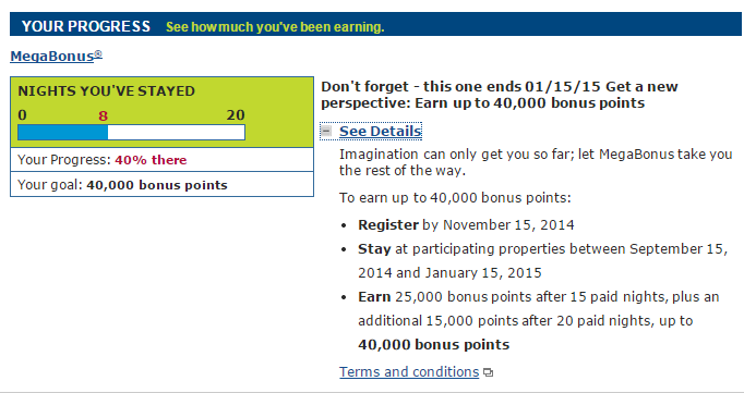 My MegaBonus offer from 15 September 2014 through 15 January 2015.