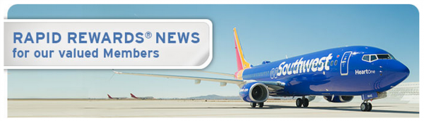 Southwest Rapid Rewards Program Updates