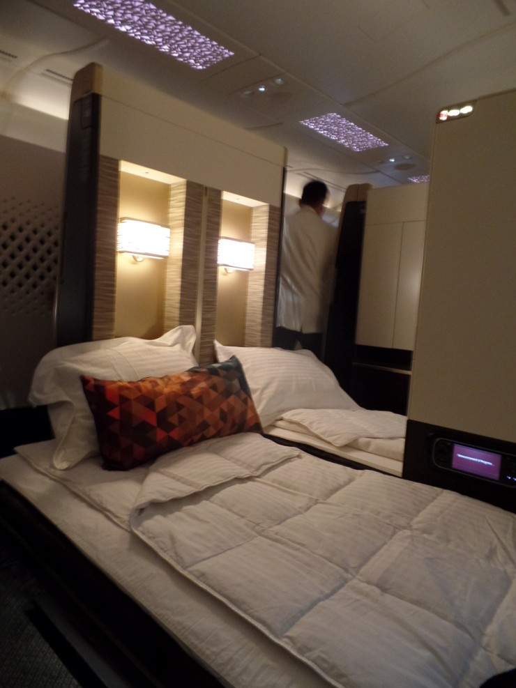 Beds made prior to takeoff.