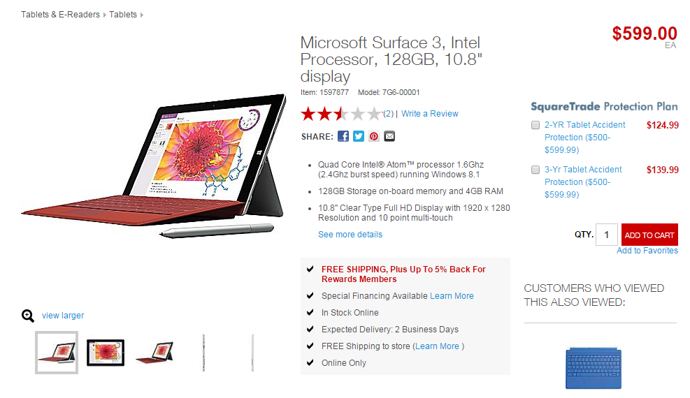 Surface 3-Staples