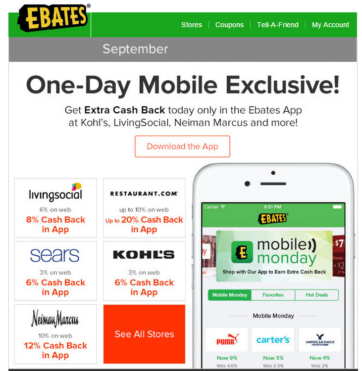 Get more cashback through the Ebates Mobile app - Tagging ...