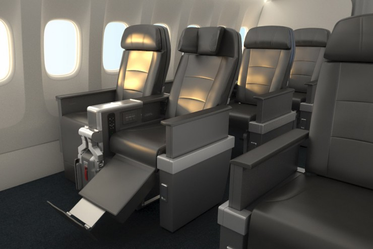 Rendering of American Airlines Premium Economy via Skift.