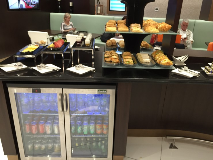 An example: The snacks at the Etihad US Pre-clearance Lounge in Abu Dhabi.