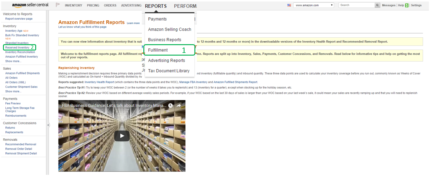 How to keep track of inventory when it is with Amazon