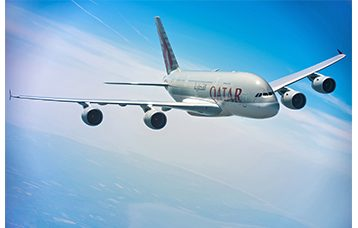 Qatar Airways A380, courtesy of Qatar Airways