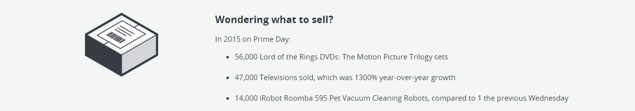 Amazon Prime Day 2015 - Sold stuff