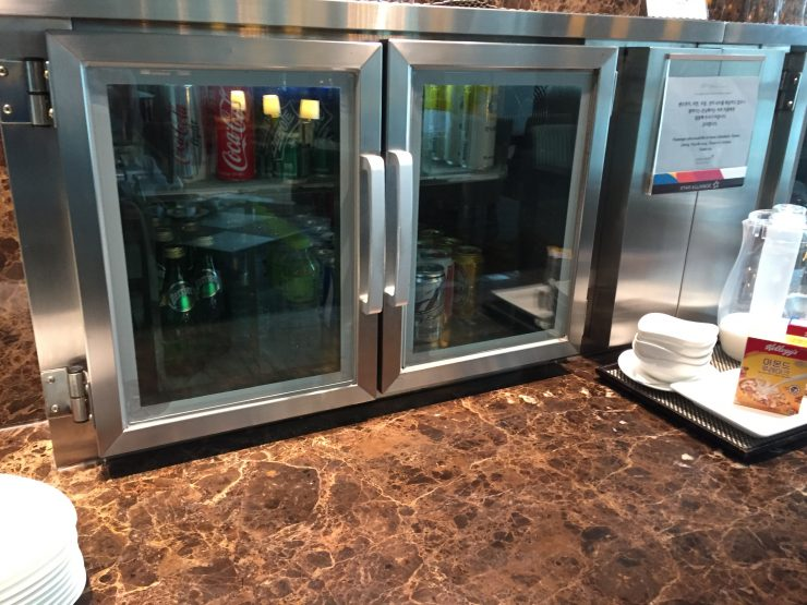 Asiana First Class Lounge - Soda Fridge