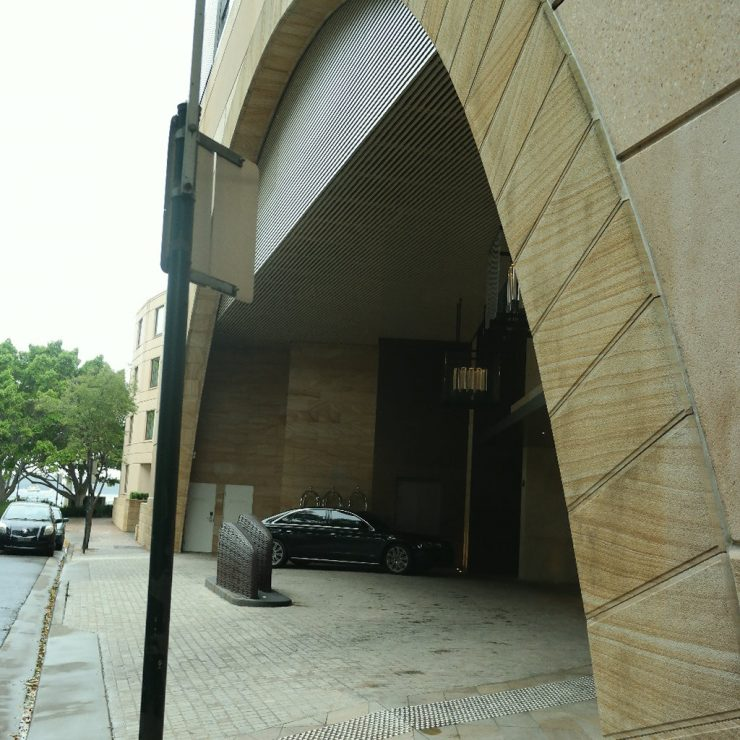 The main entrance to the Park Hyatt Sydney
