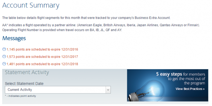 American Airlines Business Extra