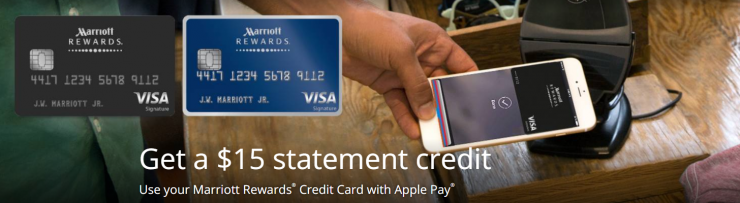 Marriott Rewards Credit Card, Apple Pay Promotion