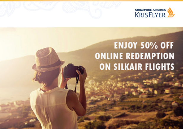 Singapore KrisFlyer SilkAir 50% Discount