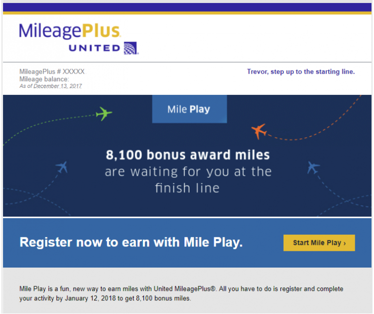 United Mile Play Invitation