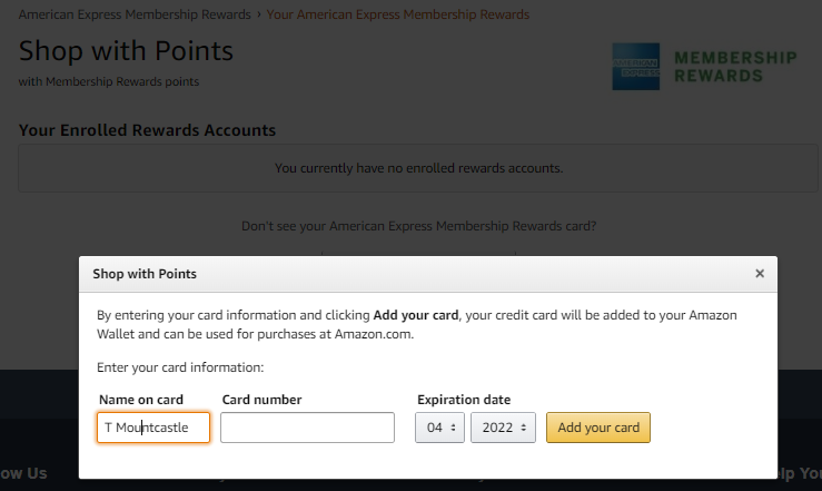 How to use Membership Rewards Points on Amazon