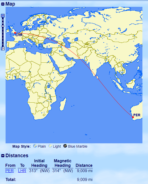 10 longest flights, QF, Qantas, PER-LHR
