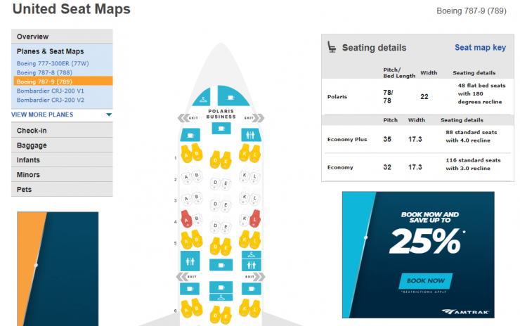 United 787-9 Seatmap via SeatGuru