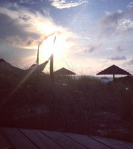 Sunset from my 4 poster hammock, Beaches Turks and Caicos Review, October 2014
