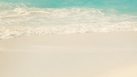Beaches Turks and Caicos Review: I just cropped this out of a random group shot. The entire beach looks like this!