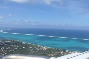 Arriving via Plane into the Turks and Caicos, October 2014