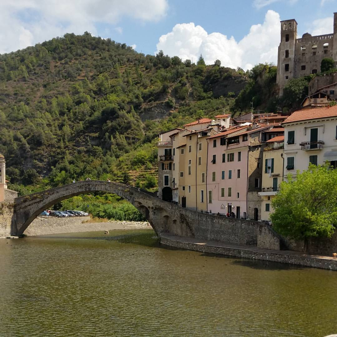 "The bridge upon which Monet based his 1884 painting ""The Castle of DolceAcqua""."