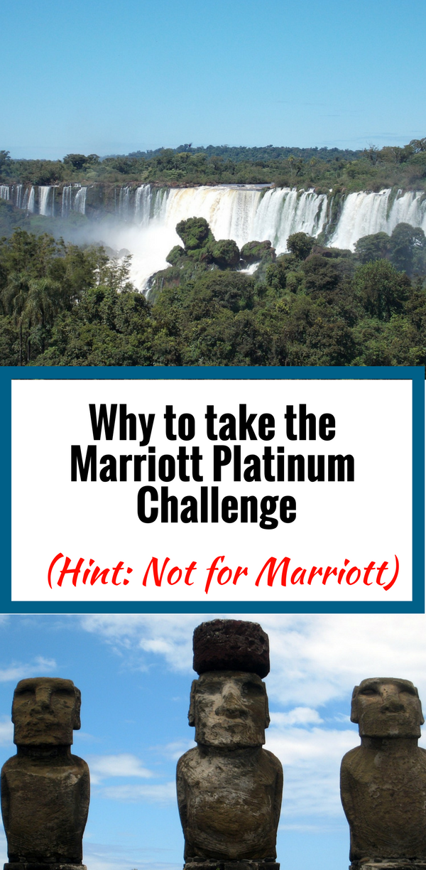 I'm taking the Marriott Platinum Challenge- but not for Marriott. Should you?