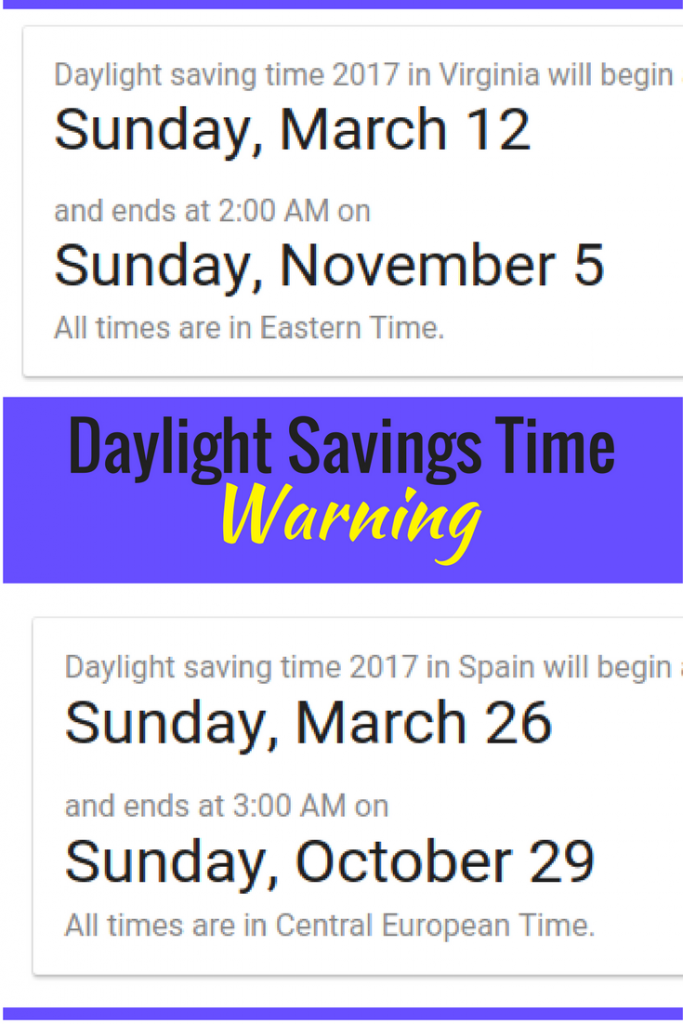 Daylight savings time warning: read this before your vacation gets ruined!
