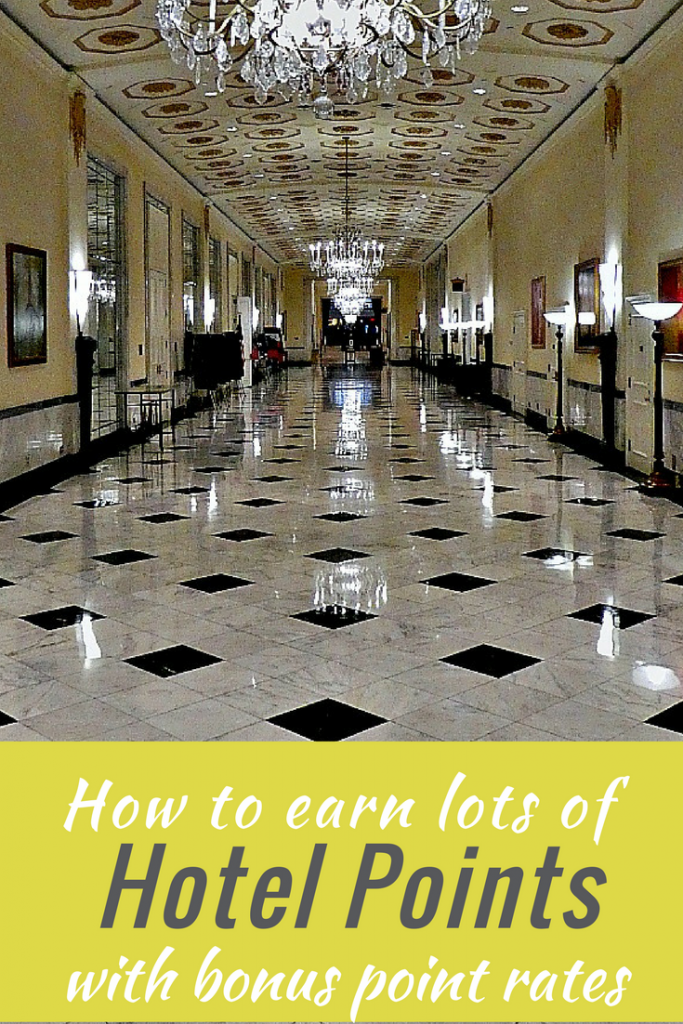 How to rack up points quickly using Hotel Bonus Points Rates.