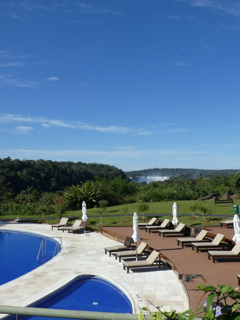 An unedited and unzoomed view from the restaurant at the Melia Iguazu. Rooms have the exact same view, but 1-3 floors higher.