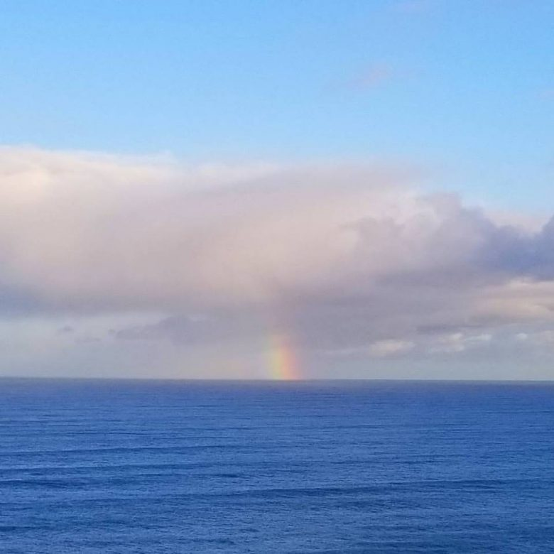 Ok, sometimes it is literally sunshine and rainbows. Renaca, Chile, July 2017.