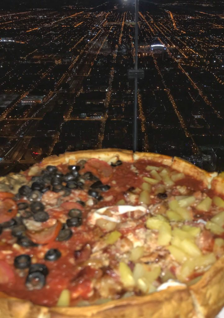The Willis Tower Skydeck is the setting of the best place to eat in Chicago.