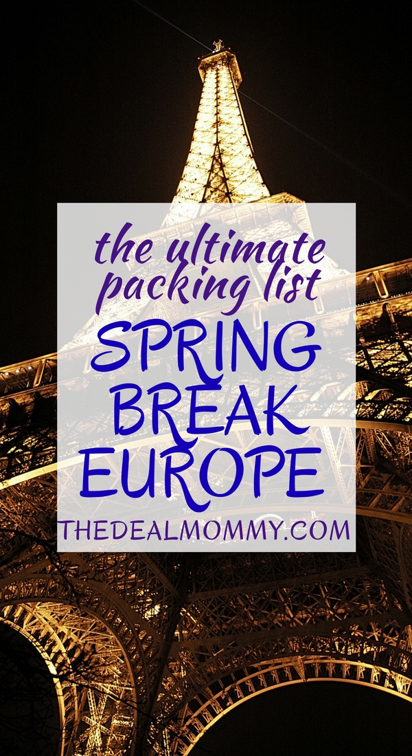Student Spring Break Packing List: Europe Edition. What to take and what to leave behind.
