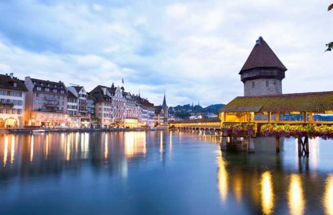 Lucerne - the 14th Century 'Chapel 'Bridge