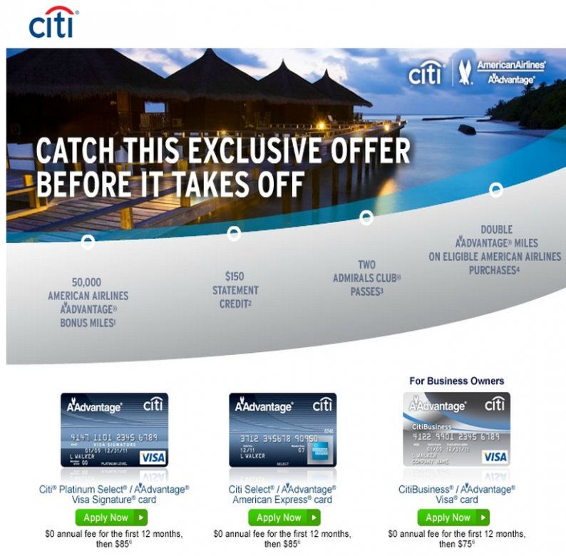 CitiBusiness AAdvantage Visa - How cashing in the $150